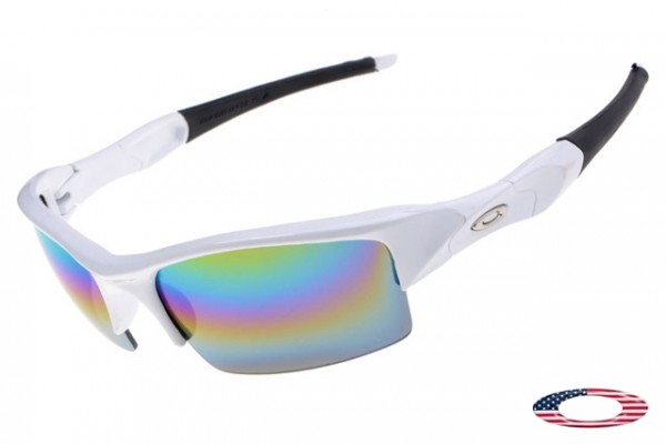 31d0ece572f Discount Replica Oakley Flak Jacket sunglasses white   came iridium ...