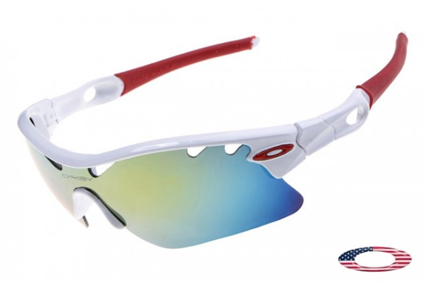913ebfa48a4 Fake Oakleys Radarlock Pitch sunglasses white   ice iridium Foakleys ...